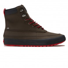 Supra Oakwood Shoes - Demitasse/Risk Red
