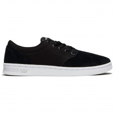 Supra Chino Court Shoes - Black/White