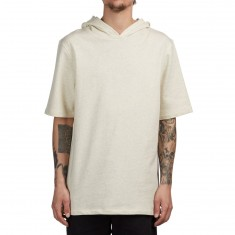 Supra Upper Cut Short Sleeve Hoodie - Oatmeal Heather