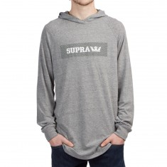 Supra Perforated T-Shirt - Grey Heather