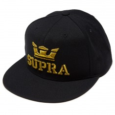Supra Above Snap Hat - Black/Gold