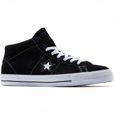 Converse One Star Pro Shoes - Black/White/Black
