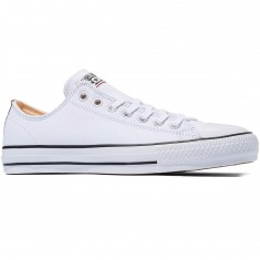 Converse CTAS Pro OX Suede Backed Shoes - White/Hyper Orange/Black