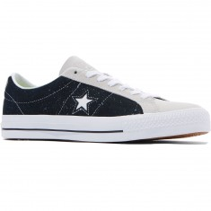 Converse One Star Pro Ox Shoes - Black/White