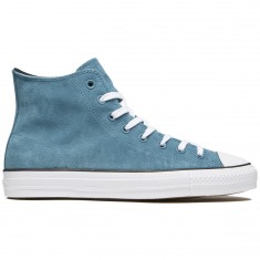 Converse CTAS Pro Hi Shoes - Teal/Black/White Plush Suede