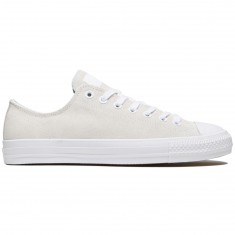 Converse CTAS Pro Shoes - White/White/Teal Plush Suede