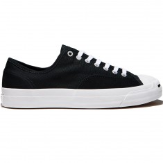 Converse Jack Purcell Pro Shoes - Black/Black/White Canvas
