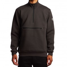 Converse Cons Half Zip Pullover Sweatshirt - Almost Black