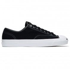 Converse Jack Purcell Pro Ox Shoes - Black/Black/White Suede
