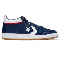 Converse Fastbreak Pro Mid Shoes - Navy/White/Enamel Red