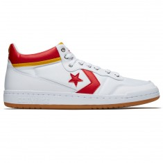 Converse Fastbreak Pro Mid Shoes - White/Enamel Red