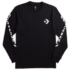 Converse Star Chevron Wordmark Long Sleeve T-Shirt - Black