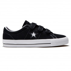 Converse One Star Pro 3V Shoes - Black/Pomegranate Red/White