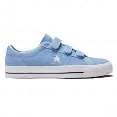 Converse One Star Pro 3V Shoes - Light Blue/Navy/White