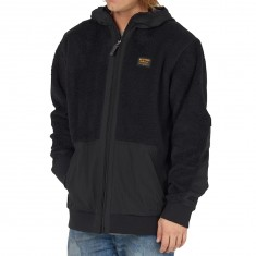 Burton Tribute Full Zip Fleece Snowboard Jacket - True Black