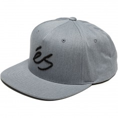eS Script Snapback Hat - Grey/Heather