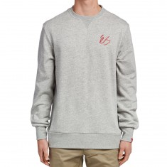 eS Script Crew Fleece Sweatshirt - Grey Heather