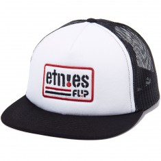 Etnies Flip Side Trucker Hat - Black/White