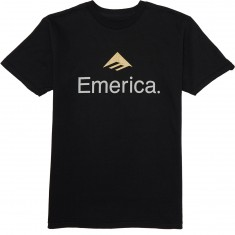 Emerica Skateboard Logo T-Shirt - Black/Gold