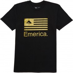Emerica Pure Flag T-Shirt - Black/Gold