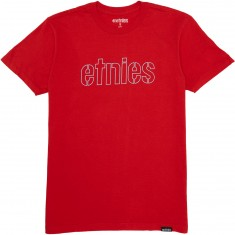 Etnies Mod Stencil T-Shirt - Red/Blue