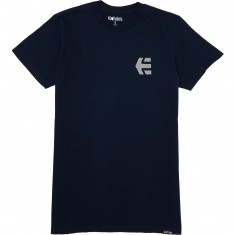 Etnies Mini Icon T-Shirt - Navy/Grey