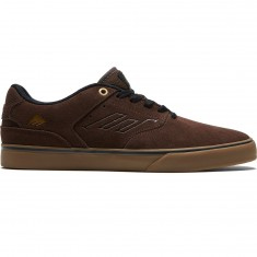 Emerica The Reynolds Low Vulc Shoes - Brown/Gum/Gold