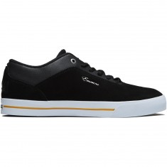 Emerica Herman G-Code Re-Up x Volume 4 Shoes - Black/White/Gold
