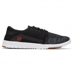 Etnies Scout YB Shoes - Black/Dark Grey/Red
