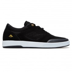 Emerica Dissent Shoes - Black/White/Gold