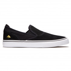 Emerica Wino G6 Slip On Shoes - Black/White/Gold