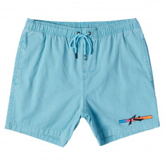 Rusty Barred Elastic Shorts - Maui Blue