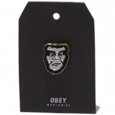 Obey Creeper Pin - White