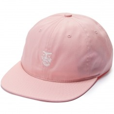 Obey Creeper Face 6 Panel Hat - Rose