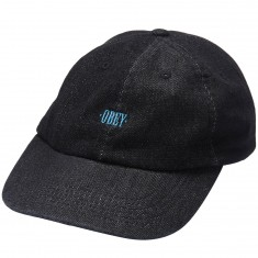 Obey Filton 6 Panel Hat - Black Denim