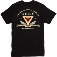 Obey Conformity Resistance T-Shirt - Black