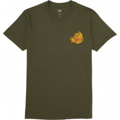 Obey Kiss Me Deadly Tiger T-Shirt - Military Olive