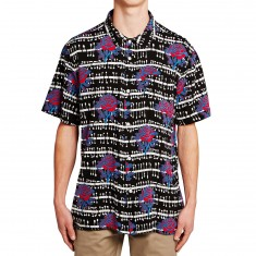 Obey Shredder Woven Shirt - Black Multi