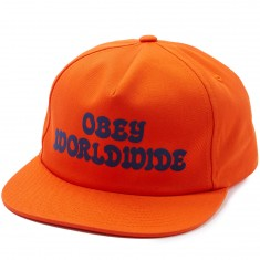 Obey Cajon Snapback Hat - Orange