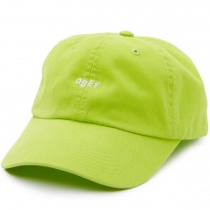 Obey Jumble Bar II 6 Panel Hat - Neon Green