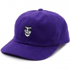Obey Fubar 6 Panel Snapback Hat - Purple