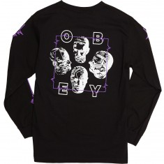 Obey Wave Lengths Long Sleeve T-Shirt - Black