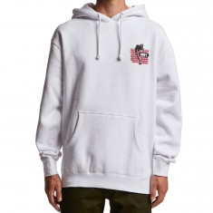 Obey People Attack People Hoodie - White