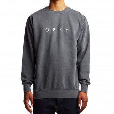 Obey Novel Obey Pigment Sweatshirt - Dusty Black