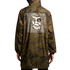 Obey Creeper Wall Hooded Trench Jacket - Camo