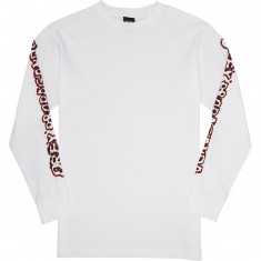 Obey Public Opinion Long Sleeve T-Shirt - White
