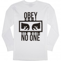 Obey No One Long Sleeve T-Shirt - White