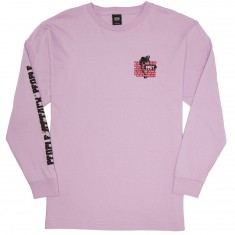 Obey People Attack People Long Sleeve T-Shirt - Lavender