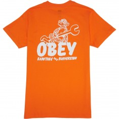 Obey Monkey Wrench T-Shirt - Orange