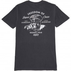 Obey Freedom Of Choice Pigment T-Shirt - Dusty Black